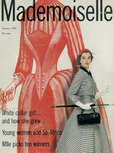 Mademoiselle Cover - January 1952 by Stephen Colhoun