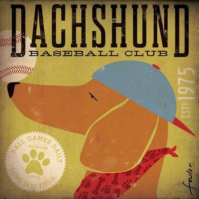 Dachshund Baseball by Stephen Fowler