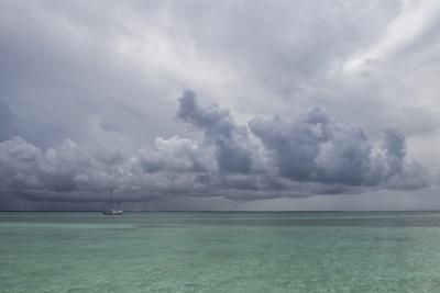 Rain Clouds and Thunderstorm at Sea.