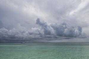 Rain Clouds and Thunderstorm at Sea. by Stephen Frink
