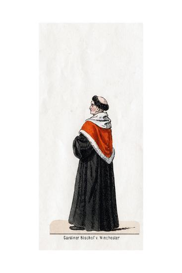 Stephen Gardiner, Costume Design for Shakespeare's Play, Henry VIII, 19th Century--Giclee Print