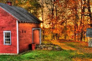 Autumn Barn HDR by Stephen Goodhue