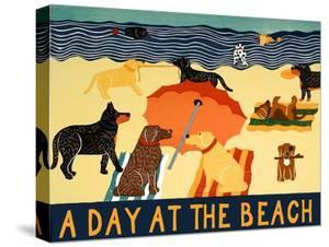 A Day At The Beach by Stephen Huneck
