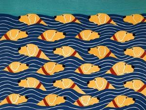 Beach Cover Sheet Yellow Yellow by Stephen Huneck