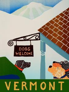 Dogs Welcome Vermont by Stephen Huneck