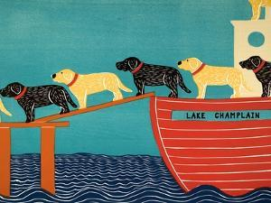 Island Ferry Champlain Black Yellow by Stephen Huneck