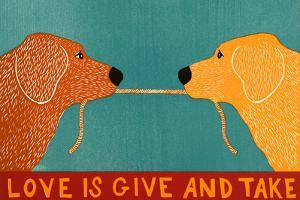 Love Is Gold Red Goldens by Stephen Huneck