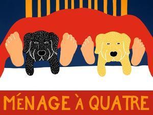 Menage A Quatre Black Yellow by Stephen Huneck