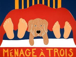 Menage Golden 1 by Stephen Huneck