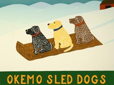 Okemo Sled Dogs by Stephen Huneck