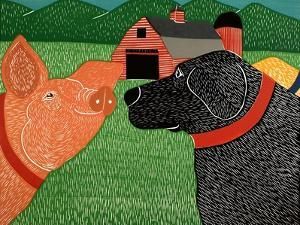 Sally Goes To The Farm by Stephen Huneck