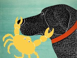 The Crab Black Dog Yellow Crab by Stephen Huneck