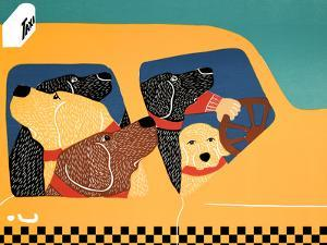 The Pack Instinct Taxi by Stephen Huneck