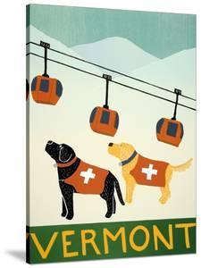 Vermont Ski Patrol Black by Stephen Huneck