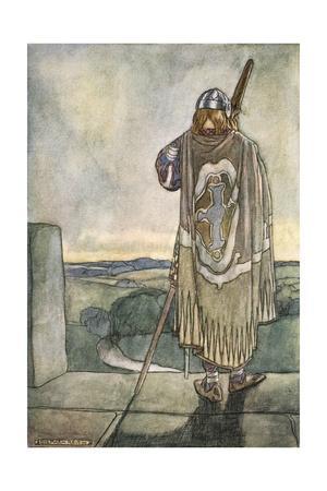 'Finn heard far off the first notes of the fairy harp', c1910