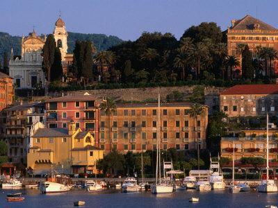 Buildings on Waterfront, Santa Margherita, Liguria, Italy