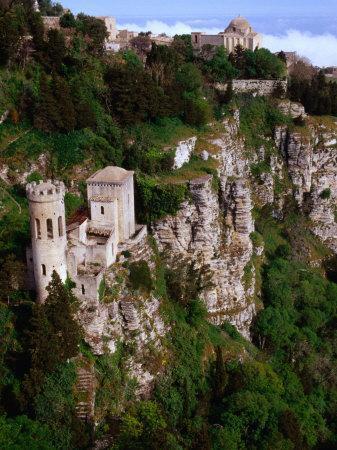 Cliff-Side Torretta Pepoli (Pepoli Turret), Erice, Sicily, Italy