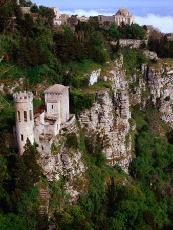 Cliff-Side Torretta Pepoli (Pepoli Turret), Erice, Sicily, Italy by Stephen Saks