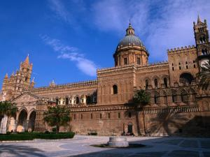 Exterior of Cathedral, Palermo, Sicily, Italy by Stephen Saks