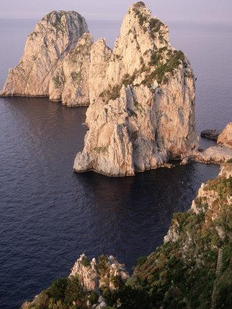 Island of Capri, Faraglioni, Italy