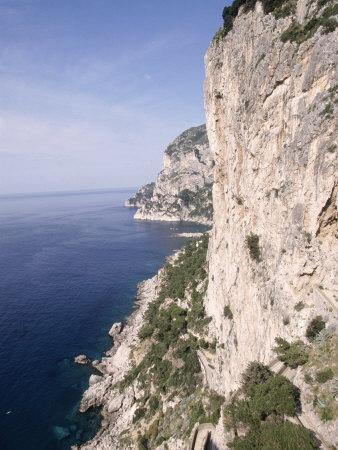 Island of Capri, Via Krupp, Italy