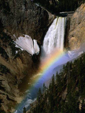 Rainbow Over Lower Falls, Yellowstone National Park, Wyoming, USA