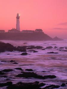 Sunrise Over Pigeon Point Lighthouse of San Mateo County, San Francisco, California, USA by Stephen Saks