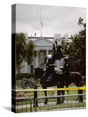 24 Hours after the 9/11 Attacks the White House is on Security Alert