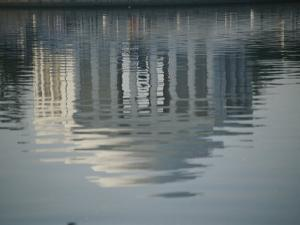 A Serene Reflection of the Jefferson Memorial in the Tidal Basin by Stephen St. John