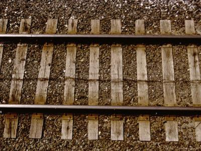 A Straightforward View from Above of Standard Railroad Tracks by Stephen St^ John