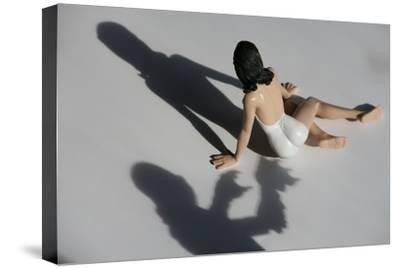 A Threatening Shadow Approaches a Bathing Beauty in Miniature