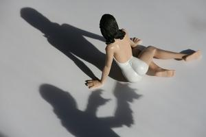 A Threatening Shadow Approaches a Bathing Beauty in Miniature by Stephen St. John