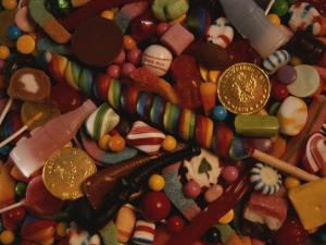 A Varied View of Dime Store Candy Makes Sweet Colorful Patterns by Stephen St. John