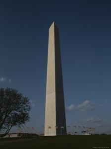 American Flags Ring the Washington Monument in This Full-Length View by Stephen St. John