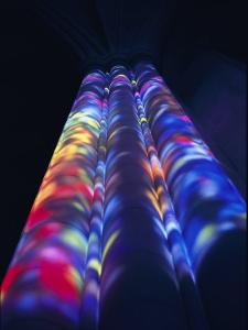 Bright Splashes of Color Illuminate a Pillar by Stephen St^ John