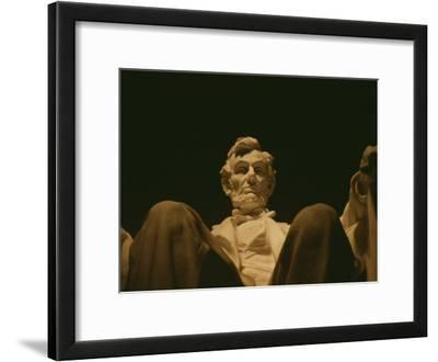 Close View of the Abraham Lincoln Statue, Centerpiece of the Memorial