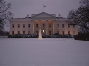 Fresh-Fallen Snow Brightens the Lawn of the White House by Stephen St. John