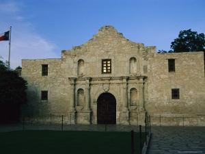 Glow of Sunset Reflects in Window of Texas' Beloved Historic Alamo by Stephen St. John