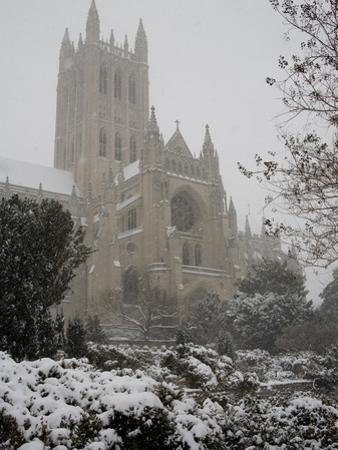 Heavy Snowfall Covers the Cathedral During the 'Blizzard of 2010'