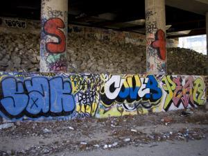 Highway Underpass Covered in Grafitti, Silver Spring, Maryland by Stephen St. John