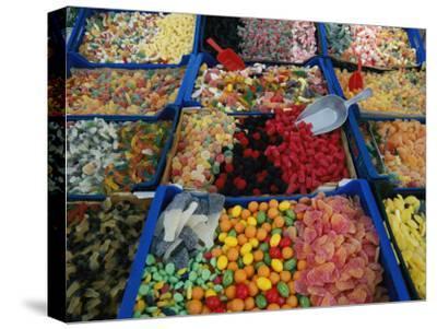 Inviting Arrays of Multi-Colored Candies in the Plaza De Catalonia