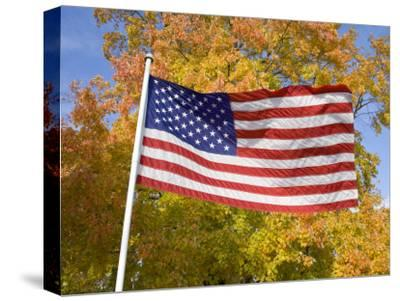 Old Glory Unfurls Against Autumn Colors, Waldorf, Maryland