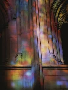 Rich Colors Projected from Stained Glass Windows onto Walls by Stephen St. John
