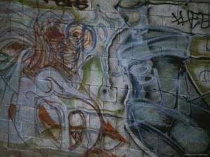 Spray-Painted Murals Line the Cinder Block Walls of East Los Angeles by Stephen St. John