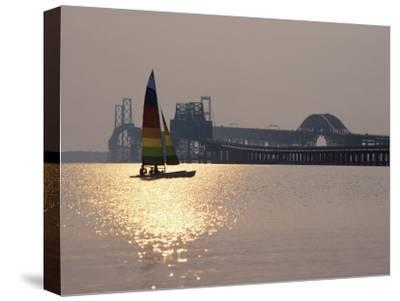Sunset over Chesapeake Bay Bridge