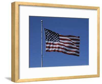 The American Flag Flies Proudly in a Stiff Breeze