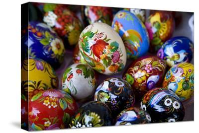 The Art of Painted Ukrainian Easter Eggs at a Flower Festival