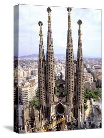 The Four Towers of Gaudi's Church of La Sagrada Familia