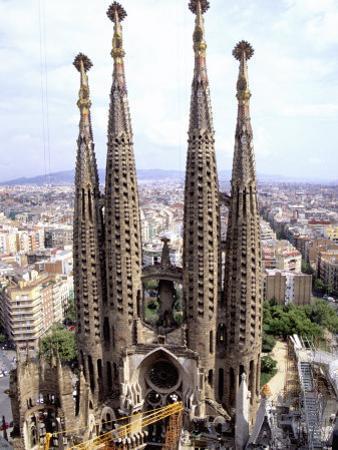 The Four Towers of Gaudi's Church of La Sagrada Familia by Stephen St. John