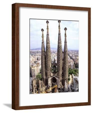 The Four Towers of Gaudi's Church of La Sagrada Familia
